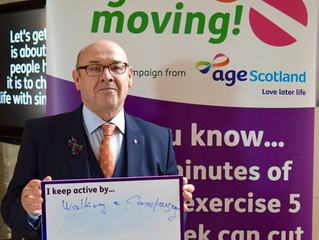 James Dornan MSP welcomes Age Scotland's Let's get moving! campaign