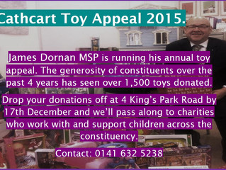 Dornan launches annual Christmas Toy Appeal.