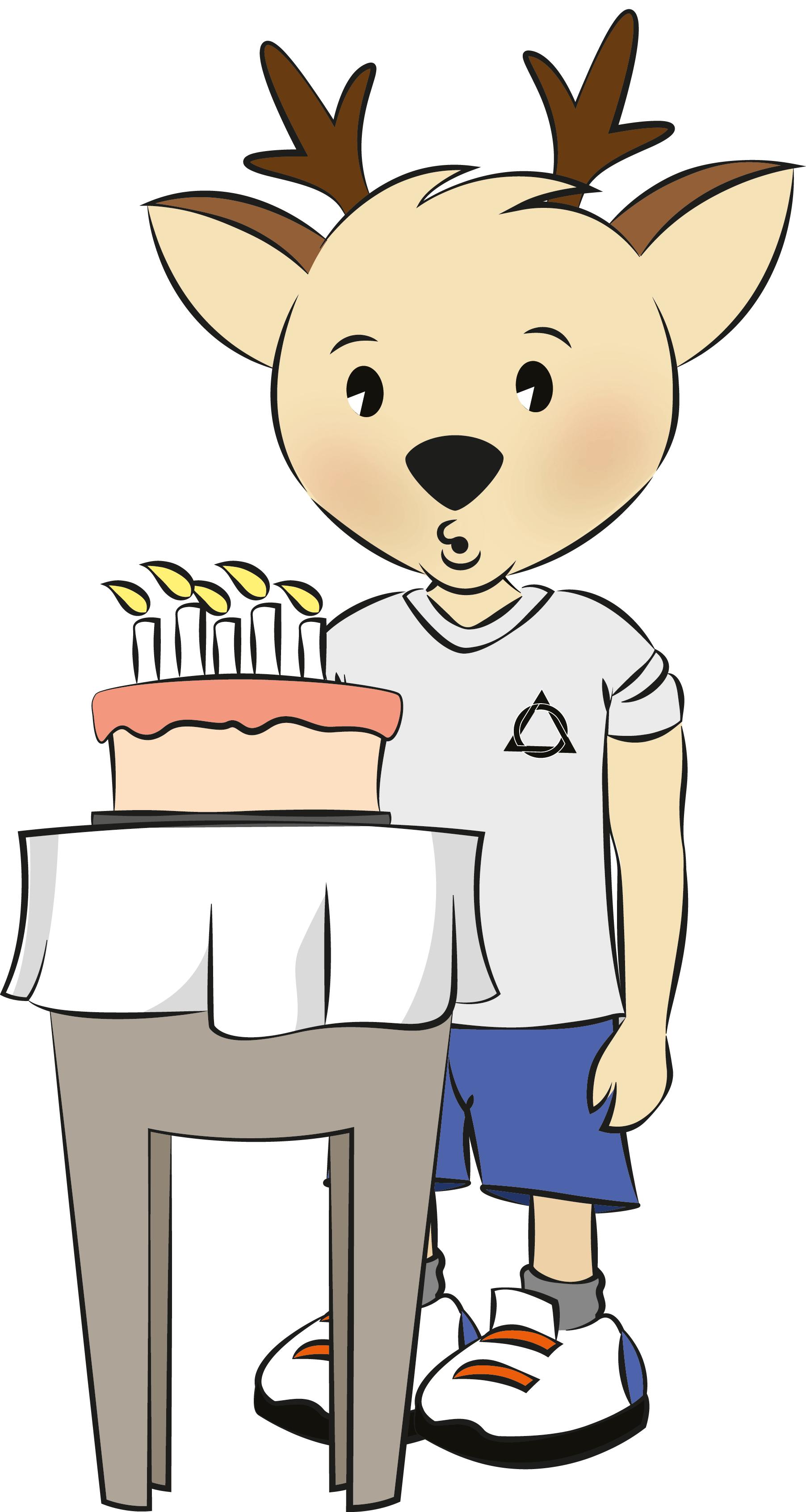 blow on cake