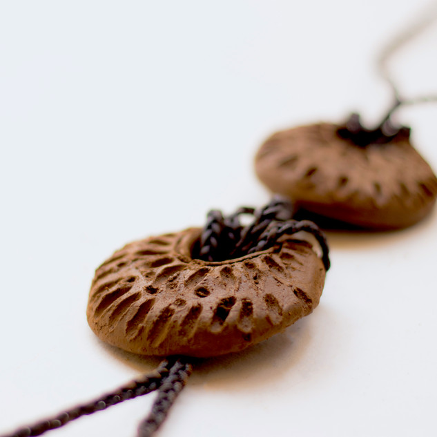 A Bolo Tie with two pendants