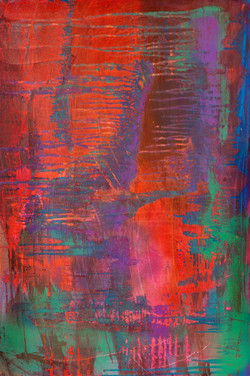 An Escape, Mixed Media on Canvas