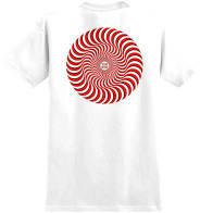 T-Shirt Classic Swirl Overlay White