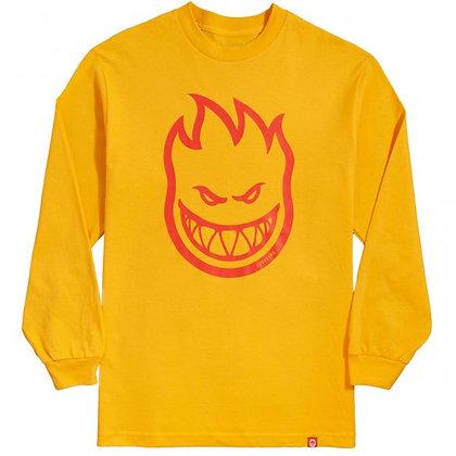 Spitfire - Big Head Gold/Red Long Sleeve Shirt