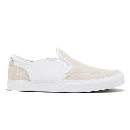 State Keys White Slip-On Shoes
