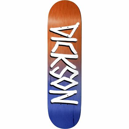 """Deathwish - Dickson Orange/Navy Gang Name Deck - 8.25"""""""