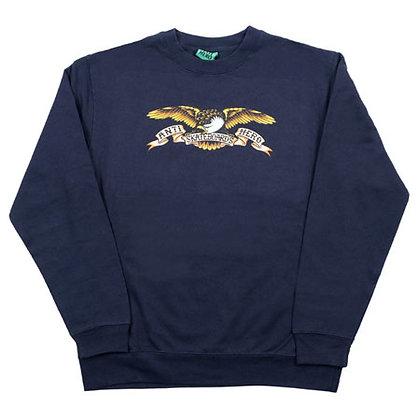 ANTIHERO - Classic Eagle Navy Crew Neck