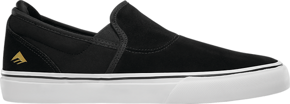 Emerica - Wino G6 Slip On Black/White/Gold Shoes