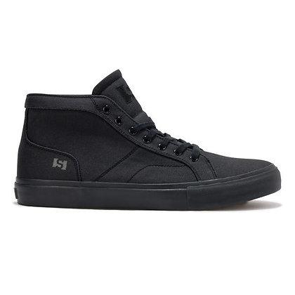 State Salem Black/Black Wax Canvas Shoes