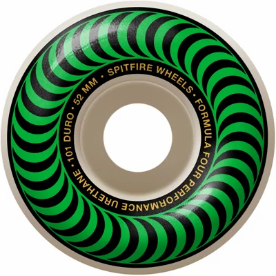 Spitfire - Formula Four Classics 99A Wheels Green/Gold - 52mm