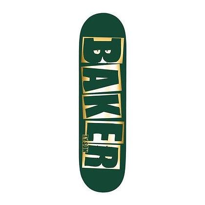 """Baker - Tyson Brand Name Green Foil Deck - 8.0"""" (Squared Shape)"""