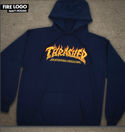 Thrasher - Fire Logo Pull-Over Hoodie