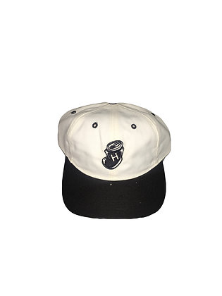 """Highwater """"crushed can"""" black and white snap back"""