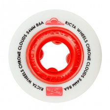 Ricta - Chrome Cloud Red 86a Wheels - 54mm
