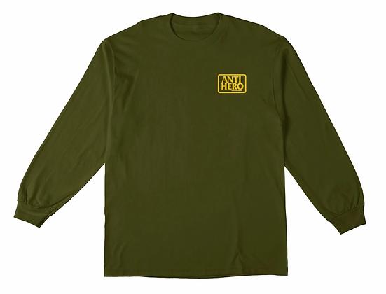 ANTIHERO -  Reserve Green/Yellow Long Sleeve