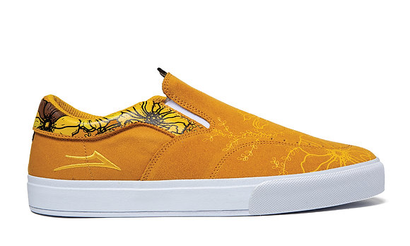 Lakai - Owen Vulc Gold (Floral) Shoes