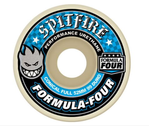 Spitfire - Formula Four Conical Full 99A Wheels - 52mm