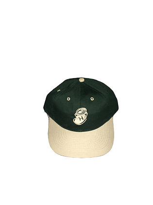 "Highwater ""crushed can"" green and tan snap back"