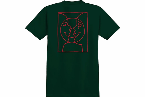 Krooked - Moon Smile Raw Forest Green Shirt