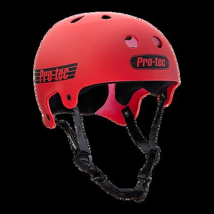 Pro-Tec - Old School Matt Red Helmet