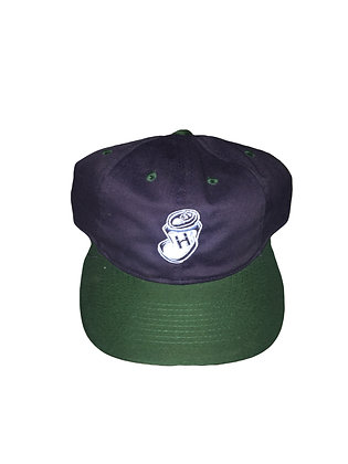 """Highwater """"crushed can"""" Navy and black snap back"""