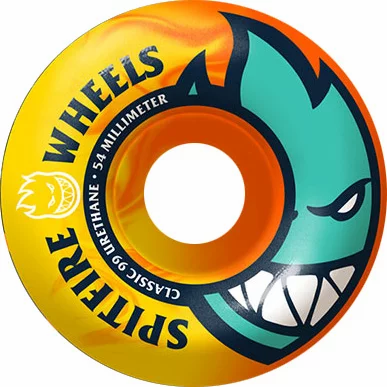SPITFIRE BIGHEAD (NEON ORANGE/YELLOW) SKATEBOARD WHEELS