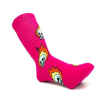 Psockadelic Flame Skull Socks