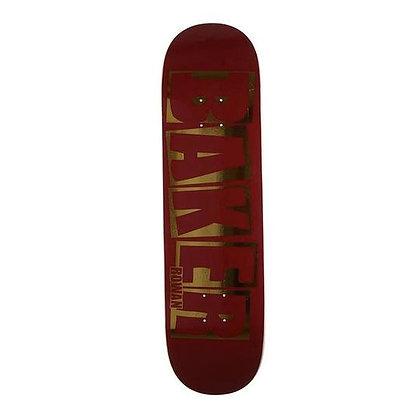 """Baker - Rowan Brand Name Red Foil Deck - 8.38"""" (Squared)"""