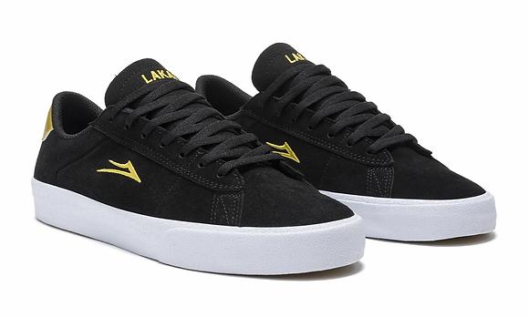 Lakai - Newport Black/Gold Suede Shoes