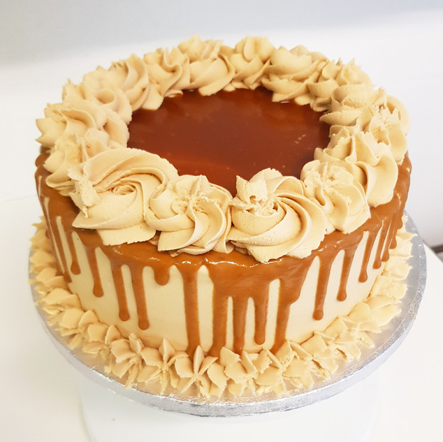 salted caramel and lotus biscuit cake