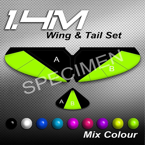 1.4m Full Wing & Tail Mix Colour