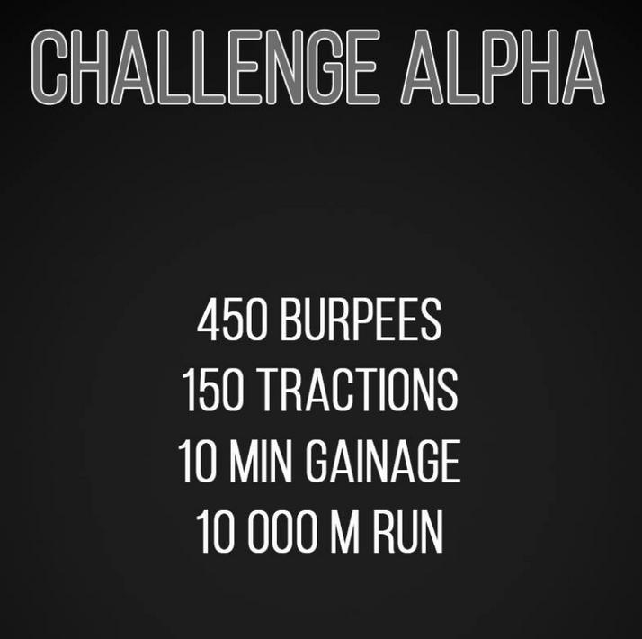 Challenge ALPHA 30/09/2017
