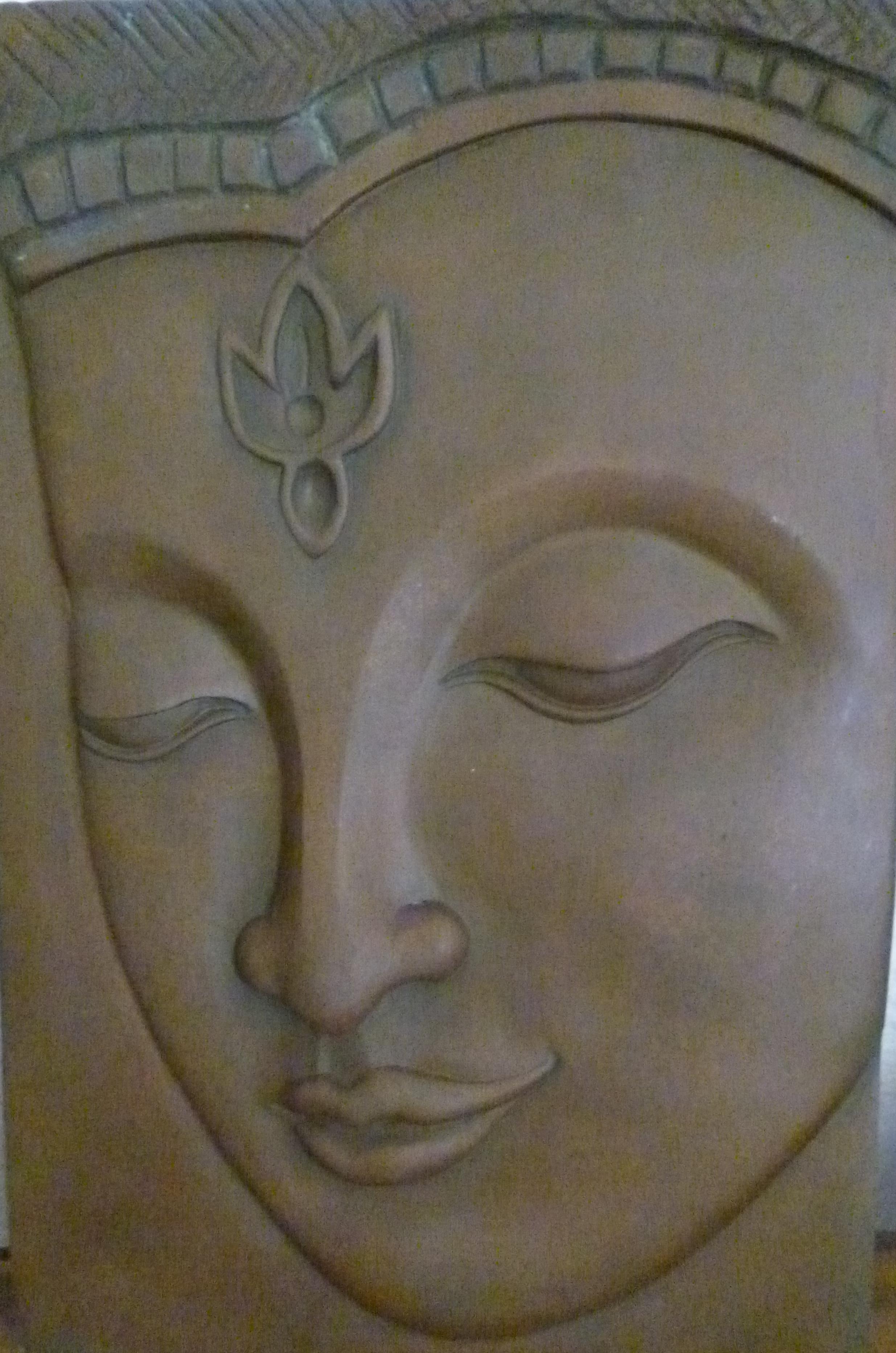 Bouddha bas relief