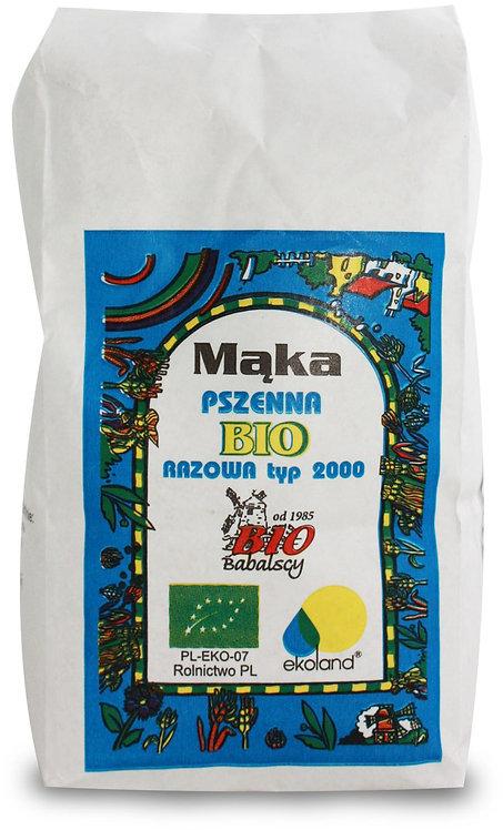 Mąka Pszenna Razowa Typ 2000 BIO 1kg  Babalscy