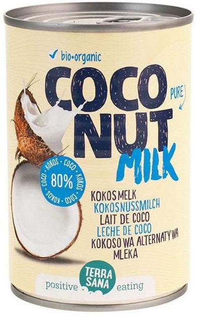 Coconut Milk Napój Kokosowy 22%tł. bez Gumy Guar 400ml Terrasana