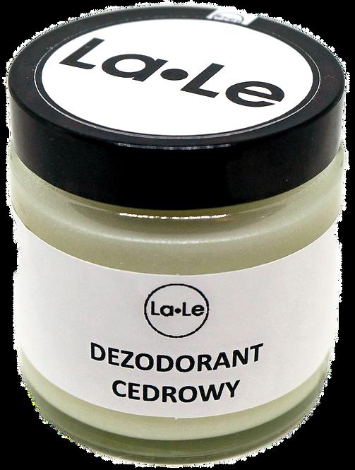 Dezodorant Ekologiczny w Kremie z Olejkiem Cedrowym 120ml La-Le