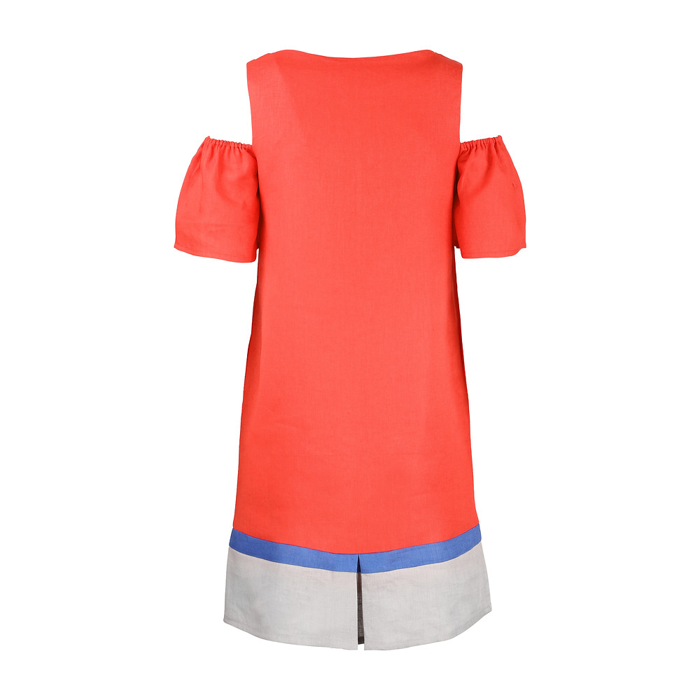 linen cocktail dress, limited edition, eco-friendly fashion, made in singapore, british fashion design