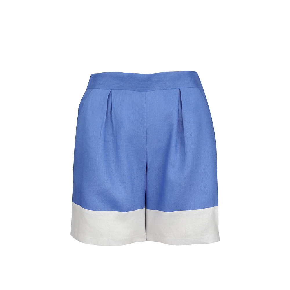 linen shorts, limited edition, elegant fashion, sustainable fabric