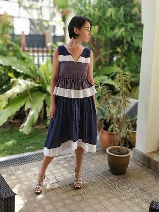 Dragon Rose Midi-Length Skirt
