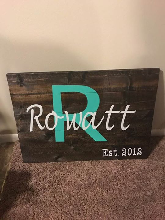 Rectangle Planked Sign