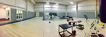 Indoor track and fitness area