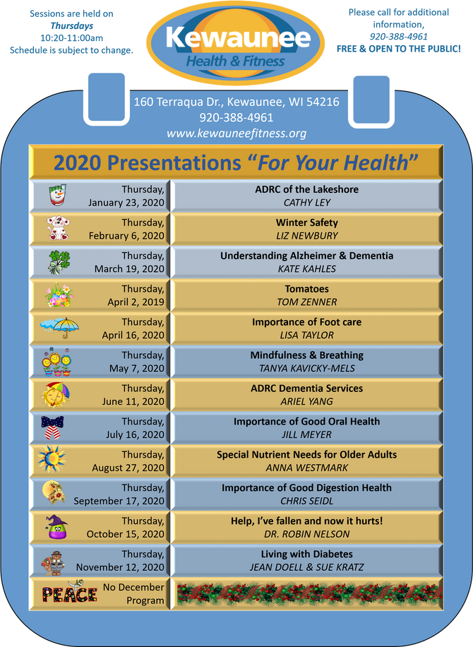 KHFI Wellness Series Schedule