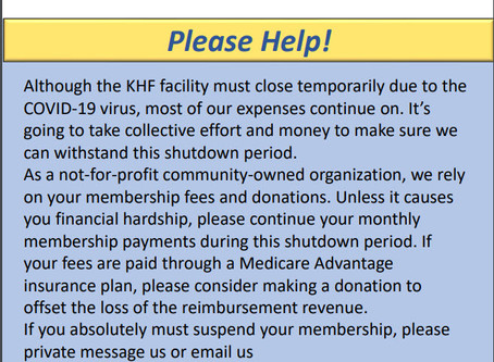 Urgent: KHFI is Closed until further notice
