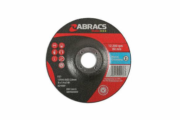 Abracs 125mm x 6mm Proflex Metal Grinding Discs