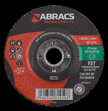 ABRACS 125mm x 6mm x 22mm Phoenix Stone Grind Discs