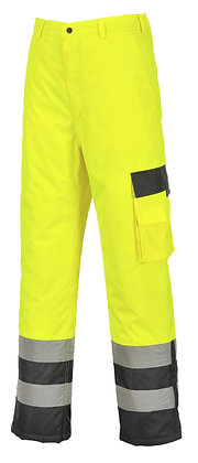Portwest S686 - Hi-Vis Contrast Trousers - Lined