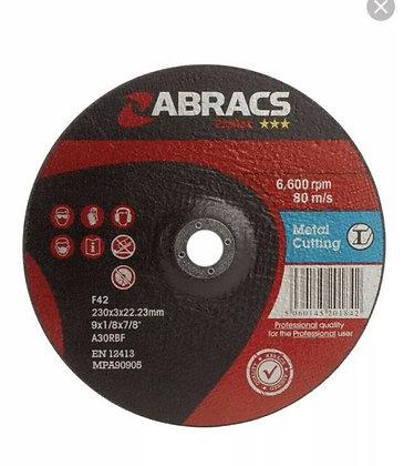 Abracs 230mm x 3mm Proflex Metal Cutting Discs