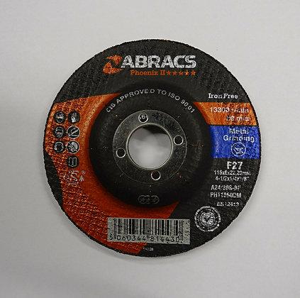 ABRACS 115mm x 6mm Proflex Metal Grinding Discs