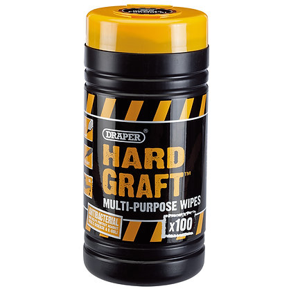 DRAPER 'HARD GRAFT' WIPES (TUB OF 100)