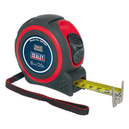 Sealey Heavy-Duty Tape Measure 8m(26ft)