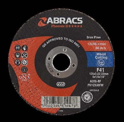ABRACS 125mm x 3mm x 22mm Phoenix Metal Cutting Discs